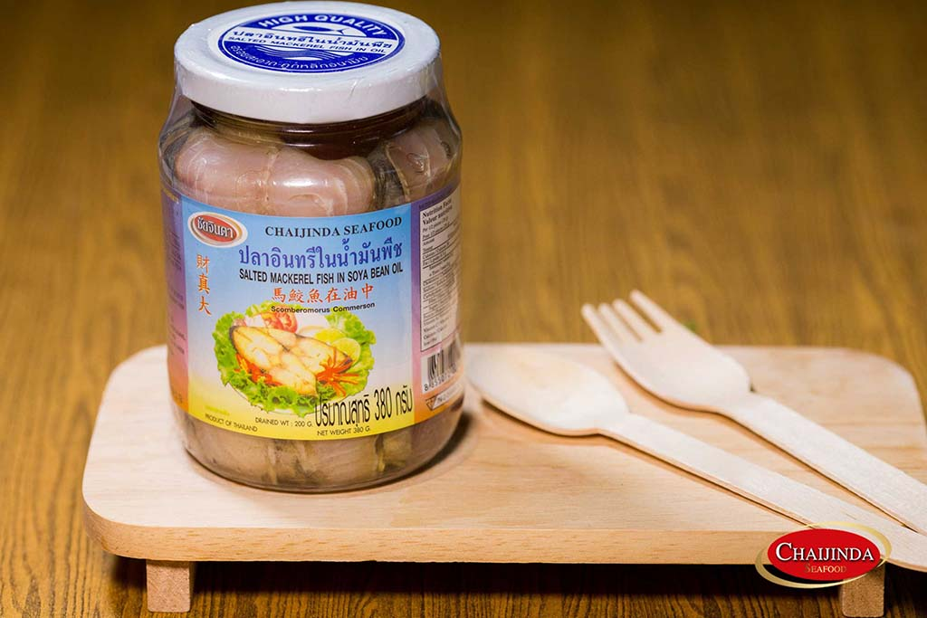 Salted mackerel in soybean oil (MKL-T02)